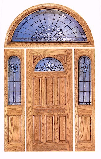 Round doors round top exterior door this rustic door for Half round transom